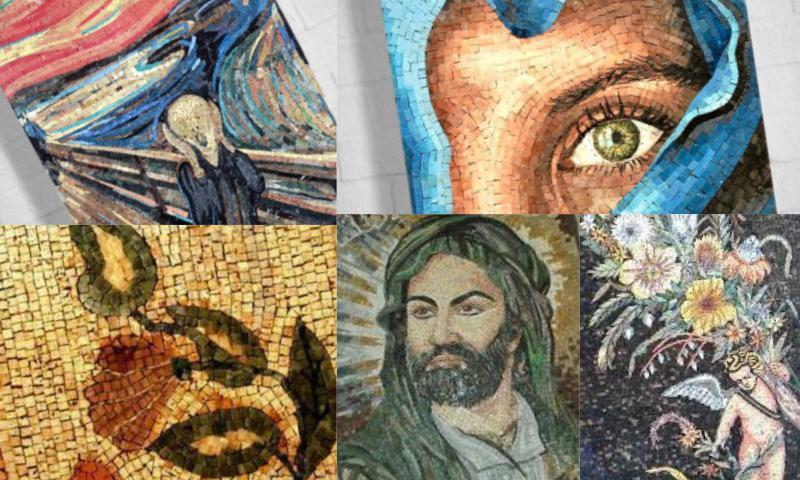 Hediyelik Mermer Mozaik Tabloları